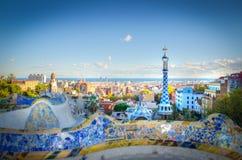 Parque de Antoni Gaudi Imagens de Stock Royalty Free
