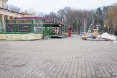 Parque de atracciones abandonado Fotos de archivo libres de regalías