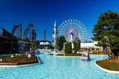 Parque de atracciones de la montaña de Fuji-q Foto de archivo