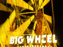 Parque de atracciones de la rueda grande Imagen de archivo libre de regalías
