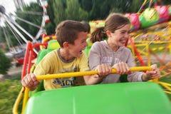 Parque de atracciones de los niños Foto de archivo libre de regalías