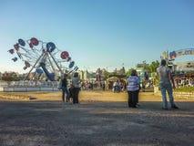 Parque de atracciones en Montevideo imagen de archivo libre de regalías