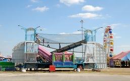 Parque de atracciones en Tejas Imagenes de archivo