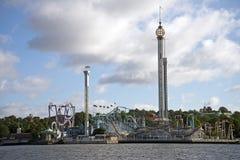 Parque de atracciones Grona Lund Fotografía de archivo libre de regalías