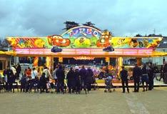 Parque de atracciones por la tarde en Chartres Imagenes de archivo