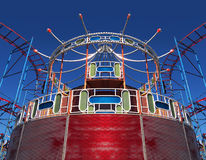 Parque de atracciones viejo Fotografía de archivo libre de regalías