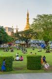 Parque de Bandula, Yangoon, Rangoon, Myanmar Fotografía de archivo