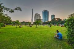 Parque de Bandula, Yangoon, Rangoon, Myanmar Foto de archivo libre de regalías