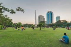 Parque de Bandula, Yangoon, Rangoon, Myanmar Imágenes de archivo libres de regalías