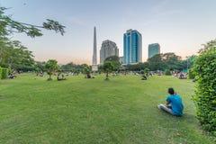 Parque de Bandula, Yangoon, Rangoon, Myanmar Fotos de archivo libres de regalías