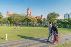 Parque de Bandula, Yangoon, Rangoon, Myanmar Imagen de archivo libre de regalías