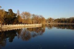Parque de Beihai, Pequim foto de stock royalty free
