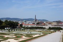 Parque de belvedere del palacio Foto de archivo libre de regalías