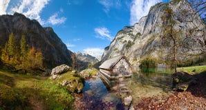 Parque de Berchtesgaden no outono imagens de stock