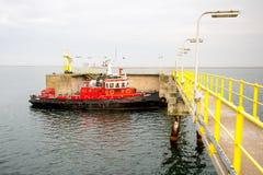 Parque de bomberos de la nave Foto de archivo libre de regalías