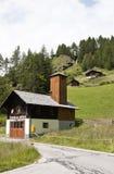 Parque de bomberos en el pueblo de Apriach, Austria Fotos de archivo
