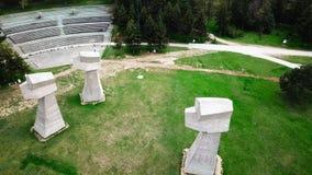 Parque de Bubanj en Nis, opini?n a?rea de Serbia almacen de video