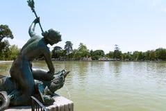 Parque de Buen Retiro, Madrid, balneario Fotografía de archivo libre de regalías