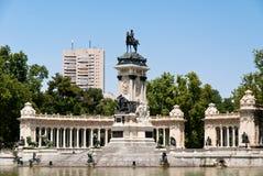 Parque de Buen Retiro, Madrid, balneario Fotos de archivo