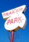 Parque de caravanas Fotografia de Stock Royalty Free
