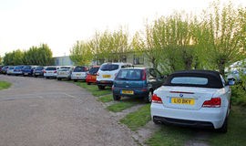 Parque de carros do reboque da caravana Imagem de Stock Royalty Free