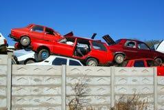 Parque de carros velho foto de stock