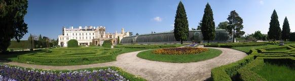 Parque de casa de señorío Lednice Fotografía de archivo
