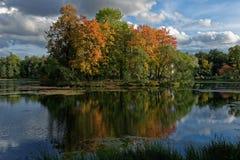 Parque de Catherine em St Petersburg, Rússia Imagem de Stock