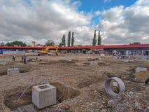 Parque de centro Zajecar del capitolio del nuevo mercado fotografía de archivo libre de regalías