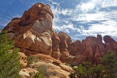 Parque de Chesler en el parque nacional de Canyonlands Fotografía de archivo
