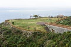 Parque de Chinen del cabo en OKINAWA Foto de archivo