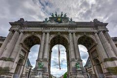 Parque de Cinquantenaire em Bruxelas foto de stock