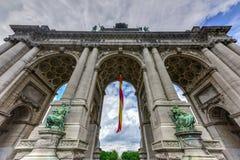 Parque de Cinquantenaire em Bruxelas fotografia de stock