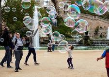 Parque de Ciutadella en Barcelona Imágenes de archivo libres de regalías