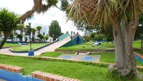 Parque de Colombia Tunja Santander por la mañana almacen de video