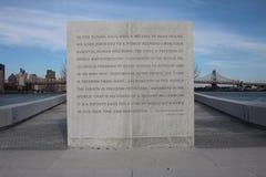 Parque de cuatro libertades Foto de archivo libre de regalías