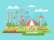 Parque de diversões Imagens de Stock