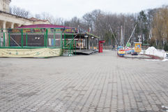 Parque de diversões abandonado Fotos de Stock Royalty Free