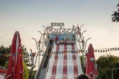 Parque de diversões, corrediça imagem de stock