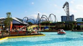 Parque de diversões das montanhas de Fuji-q Imagem de Stock Royalty Free