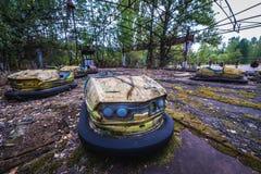 Parque de diversões de Pripyat foto de stock