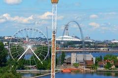 Parque de diversões de Ronde do La, Montreal imagem de stock royalty free
