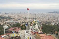 Parque de diversões de Tibidabo fotos de stock