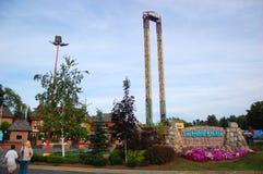 Parque de diversões do escape de seis bandeiras grande Foto de Stock
