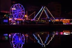 Parque de diversões em Patras, Grécia imagens de stock royalty free