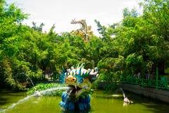 Parque de diversões na cidade de Ho Chi Minh Suoi Tien Ásia vietnam Fotos de Stock Royalty Free