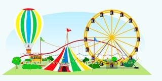 Parque de diversões no ar livre Fotos de Stock