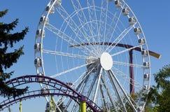 Parque de diversões, passeios do carrossel do metal Foto de Stock Royalty Free