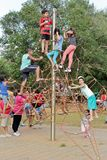 Parque de diversões popular no parque Sao Paulo de Ibirapuera Foto de Stock Royalty Free