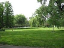 Parque de Dunavski, parque do quintal, lugar do piquenique, Novi Sad, Vojvodina, Sérvia fotografia de stock